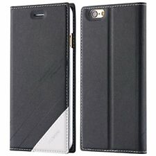 Luxury Leather Wallet Slim Case Card Slots Flip Stand Cover for iPhone 5 5s SE/6