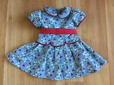 American Girl Emily doll meet dress blue red white flowers floral 18 in dolls