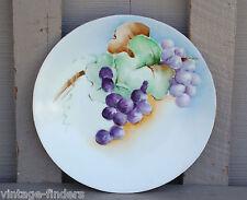 Old Vintage Wands Hand Painted Grapes Plate Tressemanes & Vogt Limoge France