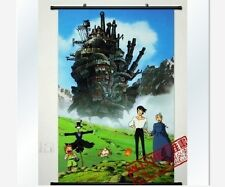 Home Decor Japanese Wall poster Scroll Howl's Moving Castle Hayao Miyazaki Art
