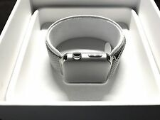 NEW Apple Watch 42mm Stainless Steel Case Milanese Loop + AppleCare PLUS MJ3Y2LL