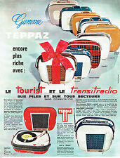 PUBLICITE ADVERTISING 056  1964  Teppaz  éléctrophone Tourist Transitradio