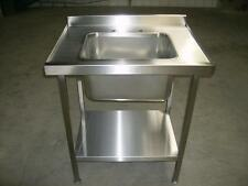 Commercial Catering Stainless Steel Single Bowl Sink Unit