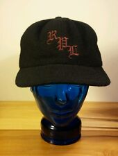 Rare! Vintage Polo Sport Ralph Lauren Black Wool Hat Blue Polo Tag Ski Winter