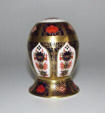 Royal Crown Derby Imari 1128 Porcelain Egg & Stand. c1995