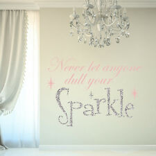 SPARKLE GLITTER GIRLS ROOM CHILDREN'S BEDROOM PLAYROOM WALL STICKER DECAL VINYL
