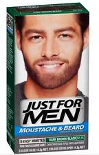 New Just For Men Moustache And Beard Dye Facial Hair Gel Dark Brown Black