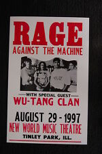 Rage Against the machine 1997 tour Poster WU Tang Clan