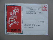 GERMANY BERLIN, privat ill. prestamped cover 1979, China