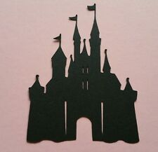 8 x LARGE Fairy Princess King Castle Magic Kingdom  silhouette card topper