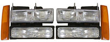 New Replacement Headlight 6-PC SET / FOR 1988-93 GMC TRUCK & 1992-93 SUVS