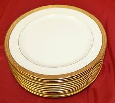 "LENOX china LOWELL P67 green backstamp LUNCH PLATES 9"" - set of 12 -"