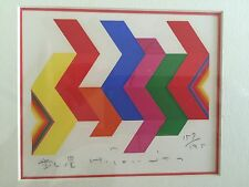 70s HUMIO TOMITA Modernist Abstract Serigraph Japan MCM Pop Op Art Panton Eames