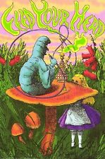 2003 ALICE IN WONDERLAND FEED YOUR HEAD CATERPILLAR 24X36 POSTER FREE SHIPPING