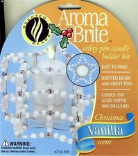 SAFETY PIN CANDLE HOLDER KIT VANILLA SCENT BEADS