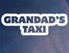 GRANDAD'S TAXI Funny Novelty Vinyl Car/Van/Bumper/Window Vinyl Sticker/Decal