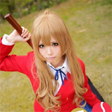 Toradora TIGER DRAGON Aisaka Taiga Flaxen Brown Long 70cm curly Cosplay Full Wig