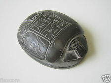 Briefbeschwerer Skarabäus Hieroglyphen Handarbeit Stein Ägypten 83,4 g