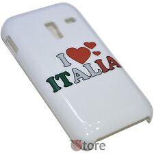 Cover Per Samsung Galaxy Ace Plus S7500 I Love Italia + Pellicola Salva Schermo