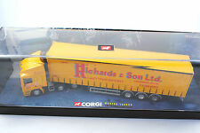 Corgi 1:50 CC75204 erf jack richards & sons curtainside trailer en display box