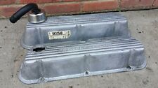 """Powered By Ford"" Valve Covers Ford Mustang 289 302 V8 SBF Original"