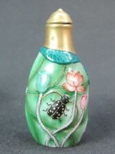 Chinese Famille Rose Porcelain Snuff Bottle:Insect On Lotus Flower