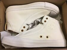 NEW CONVERSE CT ALPHA MID WHITE LEATHER SNEAKER 153114C WHITE SIZE MEN 7 WO