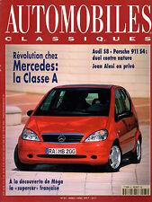 REVUE MAGAZINE AUTOMOBILES CLASSIQUES N°81 03/04 1997 MB AUDI S8 PORSCHE 911 S4