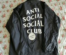 Anti Social Social Club 'Never Gonna Give You Up' Coaches Jacket Large Supreme