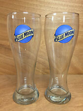 Blue Moon Brewing 22oz Super Pilsner Beer Glass - Set of 2 Glasses - NEW
