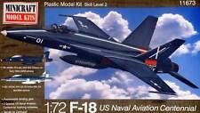 Minicraft f-18 US Naval Aviation Centennial 1:72 vfa-204/122 navy modello-KIT