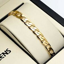"""Fashion 18K Yellow Gold Filled Charms Bracelet 8"""" Mens/Womens Chain 7mm Link Hot"""