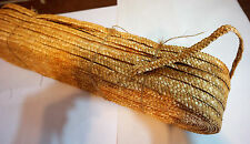 Vintage Millinery Hat Straw~Braid/Plaited~New Old Stock~Natural Color