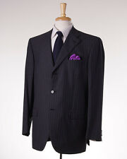 NWT $7200 BRIONI Charcoal Gray Stripe Lightweight Super 180s Wool Suit 44 R