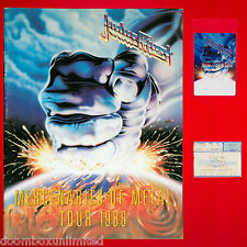 Judas Priest '88 tour book + Tour laminate + Ticket. Portland, Oregon. Original.