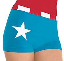 Captain America American Dream Girl Boyshorts Superhero Marvel Comics NWT