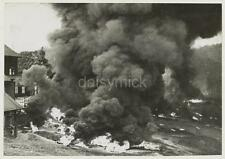 British Army 1942 Malaya Burning Rubber World War 2 Reprint Photo 7x5 inches
