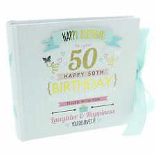 SIGNOGRAPHY 50TH  BIRTHDAY PHOTO ALBUM 50TH BIRTHDAY GIFT FOR  SPECIAL PHOTOS