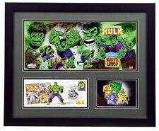 Hulk First Day of Issue Litho Plaque Marvel Super Heroes RARE!