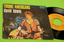 """DAVID BOWIE 7"""" YOUNG AMERICANS 1°ST ORIG ITALY 1975 EX"""