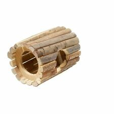 Natural Wooden Tube House Mice Hamsters Degus & Other Small Rodents Cage Toy