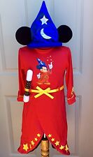 EURO DISNEY FANTASIA MICKEY MOUSE Sorcerer WIZARD PLUSH COSTUME CHILD BOY XS 3 4