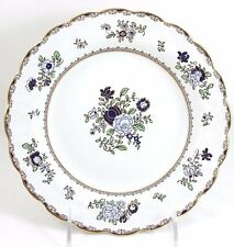 SET(S) 4 HAND PAINTED ANTIQUE BOOTHS CHINA A8086 SCALLOPED SOUP BOWLS GOLD BLUE