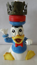Rare Walt Disney Crown Donald Duck Lamp Candle Holder #A1642