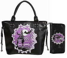 "Banned ""Secret Obsession"" Owls Castle School Shoulder Bag & Wallet SET Halloween"