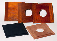 "1  LENS BOARD 3.75"" x 3.75"" (95x95mm) TYPE ""B"" - for GRAFLEX - of Solid Mahogany"