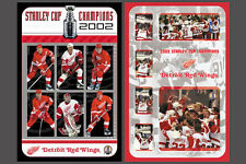 Detroit Red Wings 2002 STANLEY CUP CHAMPIONS Commemorative Poster COMBO SET (2)