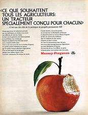 PUBLICITE ADVERTISING 045  1966  MASSEY-FERGUSON  pour les agriculteurs