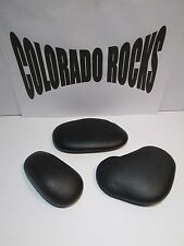"New Black Basalt Hot Massage Stones, Large 4-6"" - 3 PC Set From Colorado Rocks"