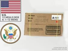 US Army Ration Pack box A. Military meals ready to eat (MRE).Best Before 2019-05
